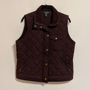 Ralph Lauren Women's Purple Quilted Vest Large